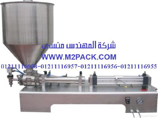 ماكينة تعبئة المواد اللزجة موديل 404m2pack.com التي نقدمها نحن شركة المهندس المنسي للتغليف الحديث و الصناعات الهندسيه - ام تو باك